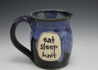 eat sleep knit az sunrise mug