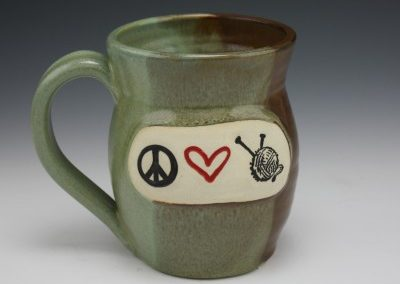 peace heart knit mug 2