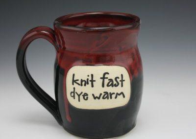 Knit fast dye warm mug