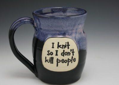 I knit so i don't kill people mug 5