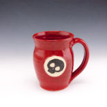 dodger skull red mug