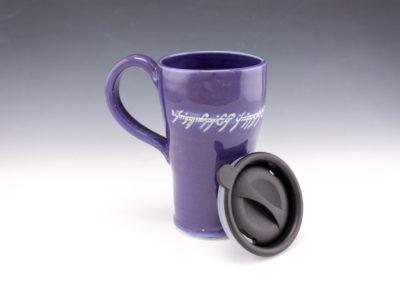 elvish script travel mug
