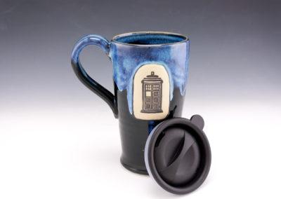 Police box travel mug