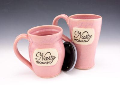 Nasty woman mugs pink
