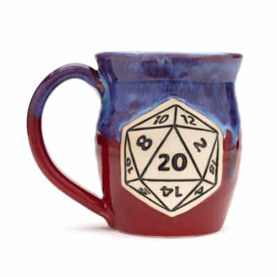 D20 gaming Fire and Ice 20 oz mug
