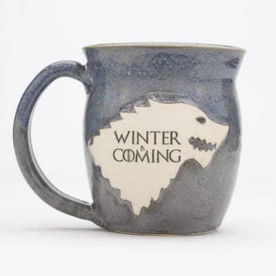 GoT - Winter is Coming Dire Wolf - Grey - 20 oz. mug