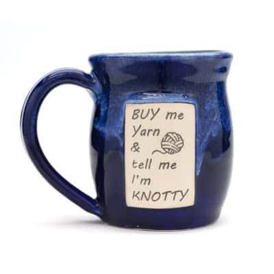 buy me yarn and call me knotty mana blue 20 oz mug