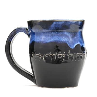 LotR elvish Script starry night 20 oz mug