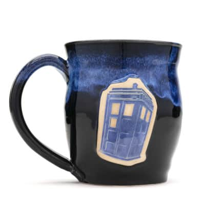 Doctor Who Police Box Denim Starry Night 20 oz. mug