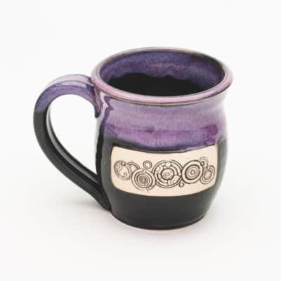 Name of the Doctor Arizona Sunrise Glaze pink/purple over black 20 oz. Mug