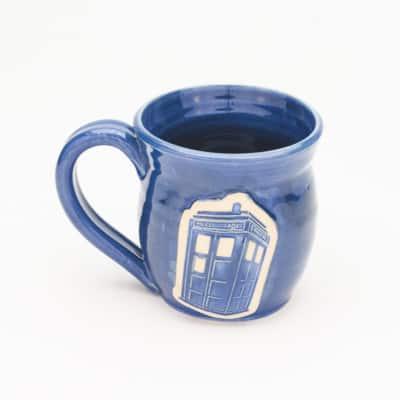Doctor Who Police Box Denim Blue 20 oz. mug