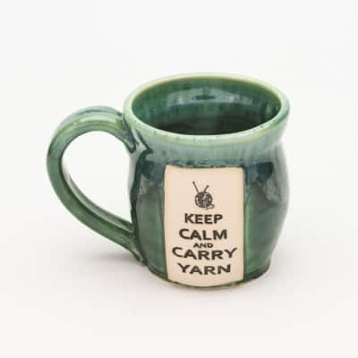 Yarn - Keep calm and carry yarn - Misty Forest - 10 oz. mug