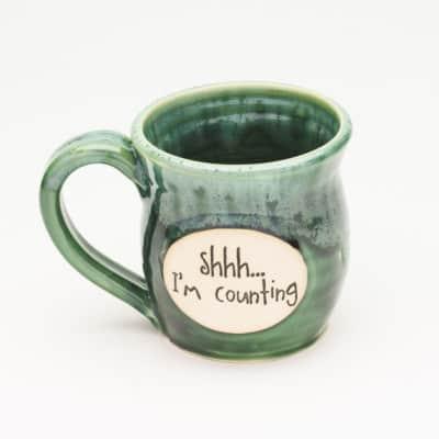 shhh i'm counting 20 oz. mug
