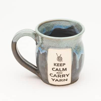 Yarn - Keep calm and carry yarn - Stormy Skies - 20 oz. mug
