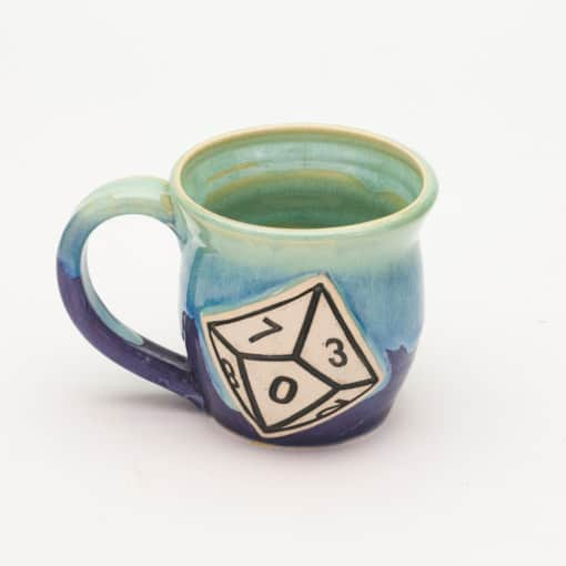 D10 Ten Sided Dice Sweet Pea 10 oz. mug