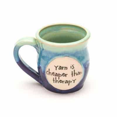 Yarn is cheaper than therapy Sweet Pea 10 oz. mug