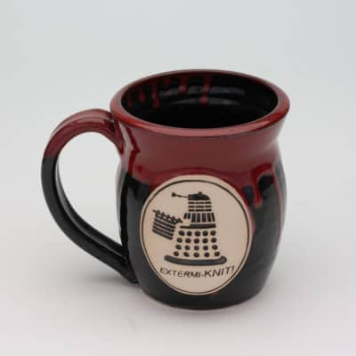 Doctor Who Extermiknit Bloody glaze 20 oz. mug
