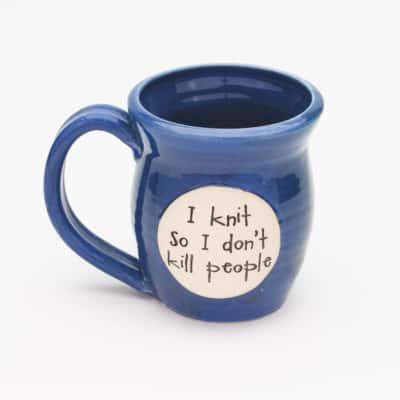 I knit so I don't kill people Starry Night 20 oz. Mug
