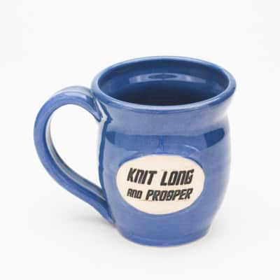 Knit Long and Prosper - Denim Blue 20 oz. mug