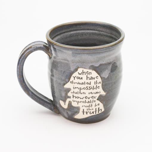 Sherlock Silhouette Storm Grey 20 oz. mug