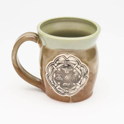 Ilvermorny Potter inspired Jade and Iron 20 oz. Mug