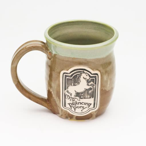 Prancing Pony Lotr inspired Jade and Iron 20 oz. Mug