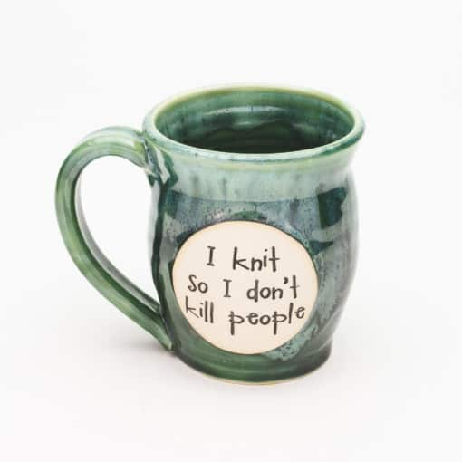 I knit so I don't kill people Misty Forrest 20 oz. Mug
