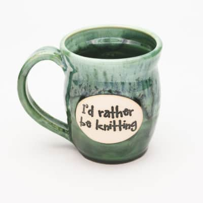 I'd rather be knitting Misty Forrest 20 oz. mug