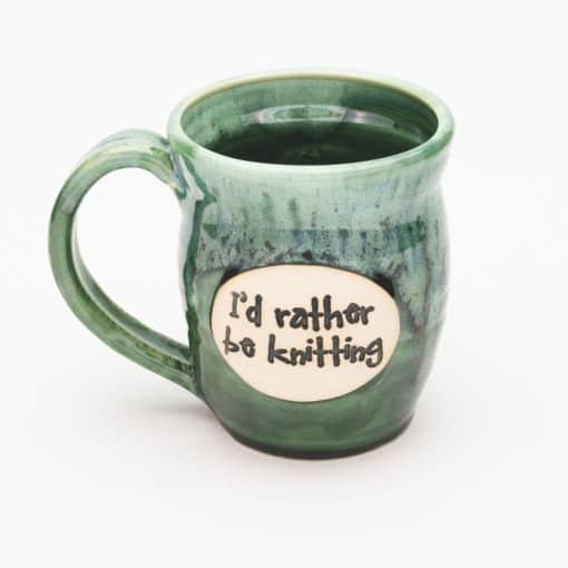 I'd rather be knitting Misty Forrest 20 oz. mug