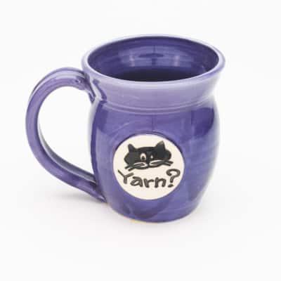 Cat Yarn? Purple 20 oz. mug