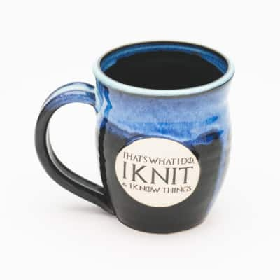I knit and I know things GoT inspired Starry Night 20 oz. mug