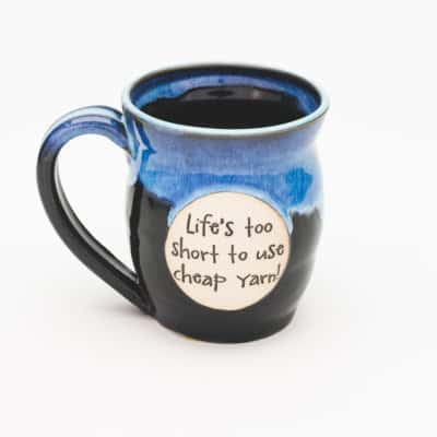 LIfe's too short to use cheap yarn Starry Night 20 oz. Mug