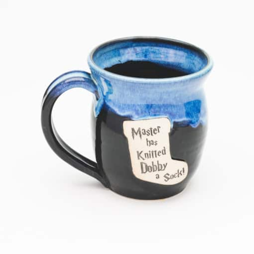 Master has knitted Dobby a Sock Potter inspired Starry Night 20 oz. mug