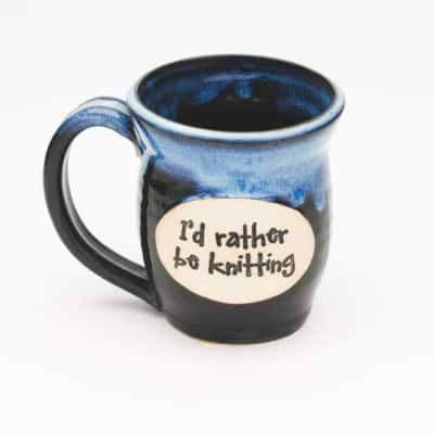 I'd rather be knitting Starry Night 20 oz. mug