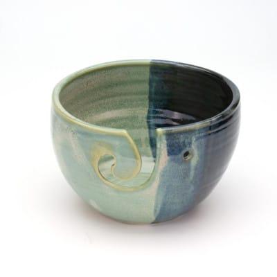 Yarn Bowl Jade and Black