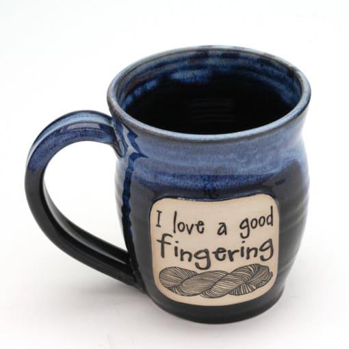 Yarn I love a good Fingering Starry Night 20 oz mug
