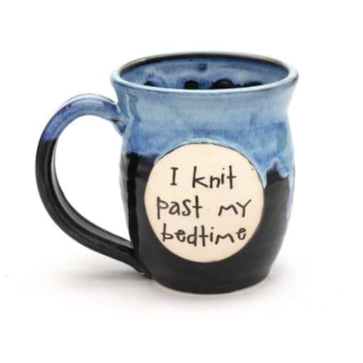 Knit - I knit past my bedtime - starry night 20 oz. mug