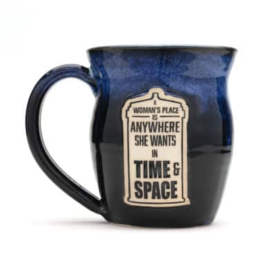 Doctor Who A womans place is anywhere in space and time Starry Night 20 oz. mug