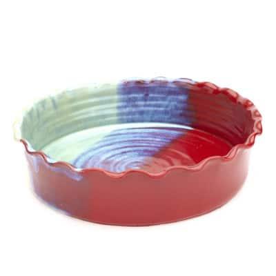bakeware pie plate sedona glaze