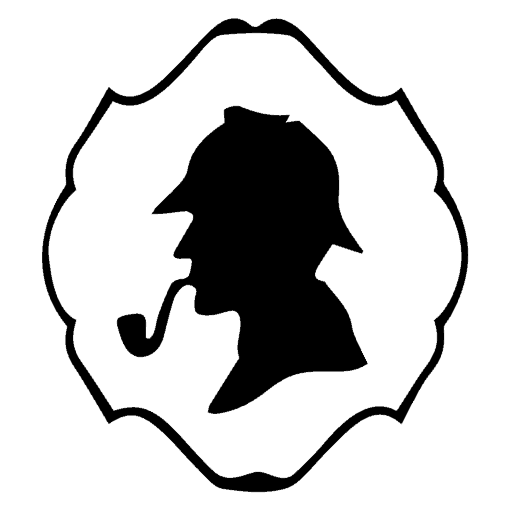 Logo Medallion - Sherlock Sillouette