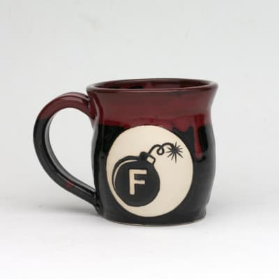 F Bomb Bloody (red over black) 20 oz. Mug