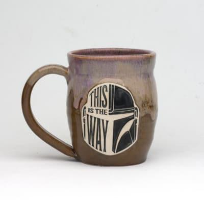 star wars this is the way Fire opal Glaze 20 oz. mug