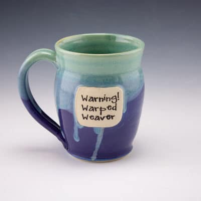 mug, warped weaver
