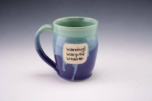 mug, warped weaver
